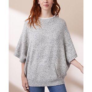 Lou & Grey poncho sweater with kangaroo pocket